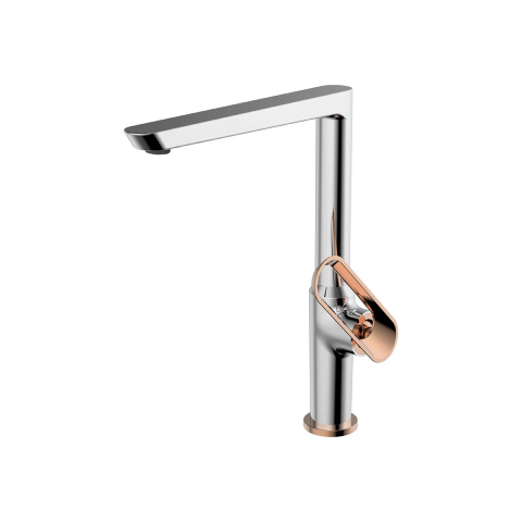 Bien Banyo - Bien Banyo Hermes Mutfak Bataryası Krom-Rose Gold