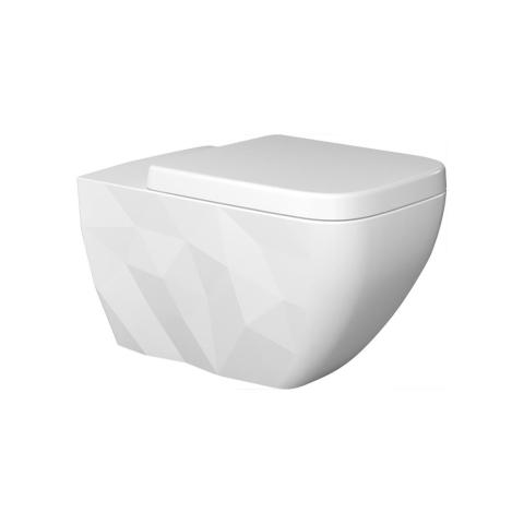 Bien Banyo - Bien Banyo Kristal Kanalsız Asma Klozet Beyaz