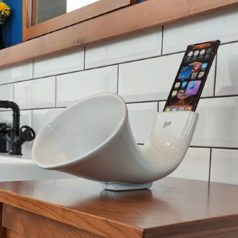 Bien Banyo - Bien Banyo Mini Megafon Standart Alp Beyaz