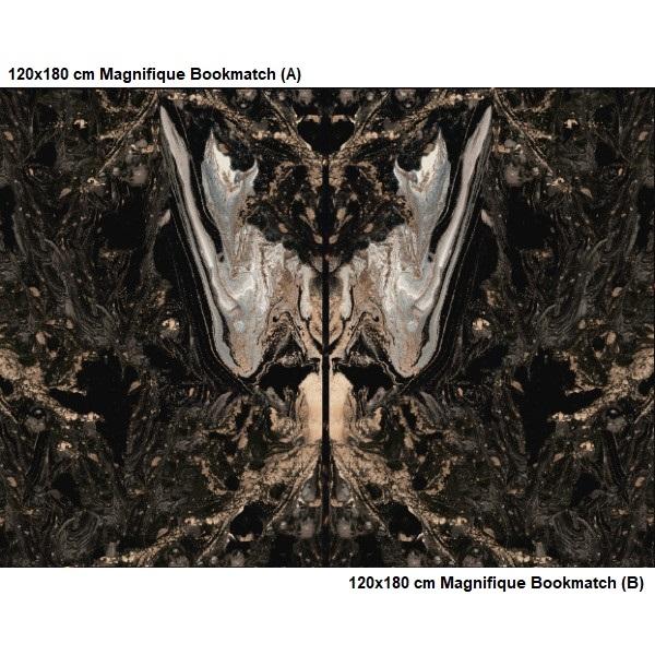 Bien Seramik 120x180 cm Magnifique Bookmatch (A) Yer Karosu