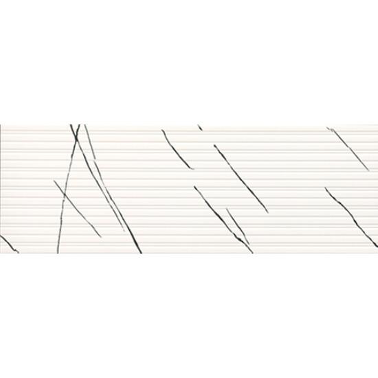 Bien Seramik 40x120 cm Agatha Beyaz Dekofon Duvar Karosu