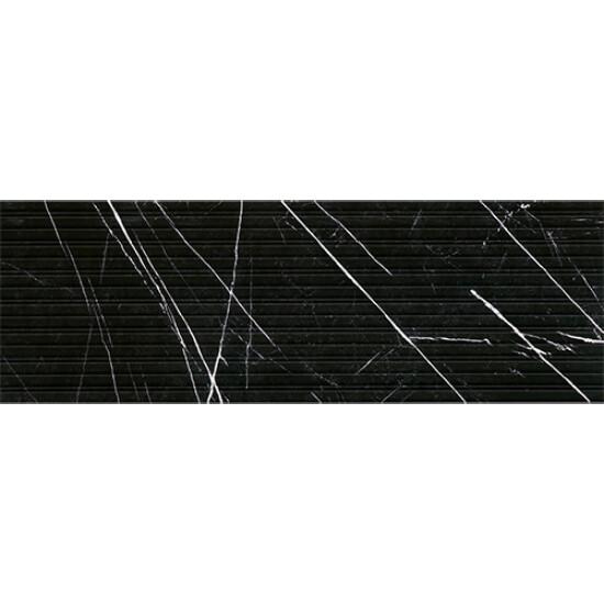 Bien Seramik - Bien Seramik 40x120 cm Agatha Siyah Dekofon Duvar Karosu