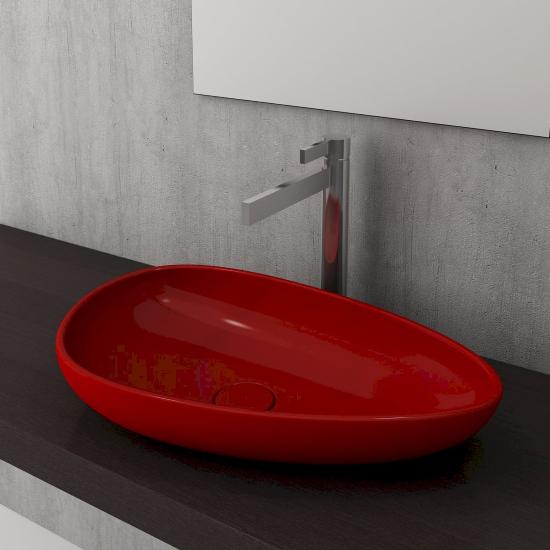 Bocchi - Bocchi Etna Çanak Lavabo 58 cm Parlak Kırmızı