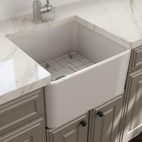Bocchi Lavello Mutfak Eviyesi 50 cm Parlak Beyaz