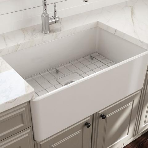 Bocchi Lavello Mutfak Eviyesi 76 cm Parlak Beyaz