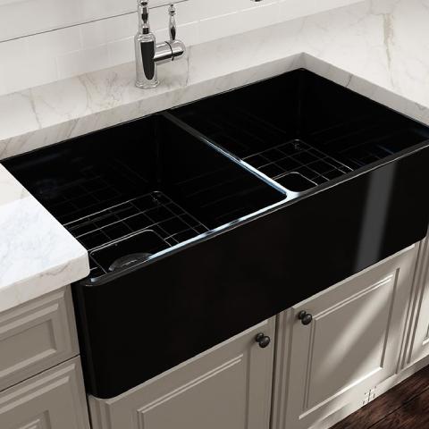 Bocchi Lavello Mutfak Eviyesi 85 cm Parlak Siyah
