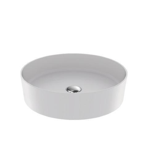 Creavit - Creavit Loop Yuvarlak Lavabo Mat Beyaz 45 cm