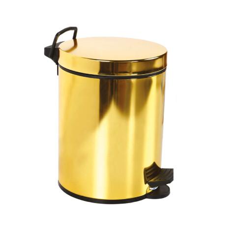 Creavit - Creavit Pedallı Çöp Kovası 12 lt Altın