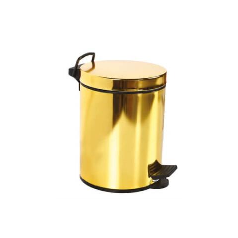 Creavit - Creavit Pedallı Çöp Kovası 3 lt Altın