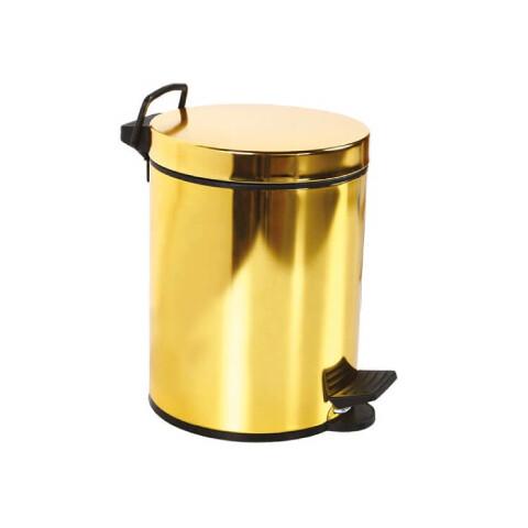Creavit - Creavit Pedallı Çöp Kovası 5 lt Altın