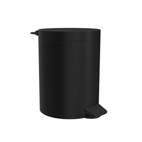 Creavit - Creavit Pedallı Çöp Kovası 5 lt Mat Siyah