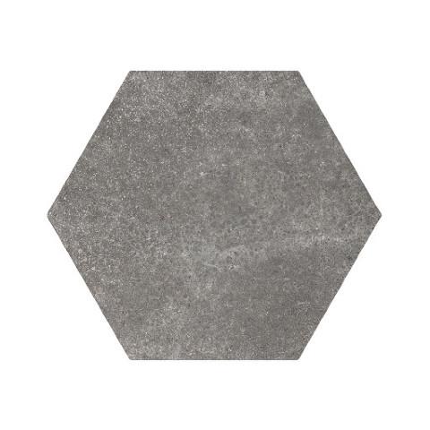 Equipe 17,5x20 cm Hexatile Cement Black   Siyah Yer Karosu