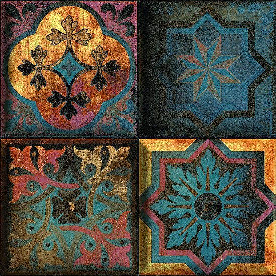 Fionart Mosaic - Fionart Mosaic 30x30 cm Mesa Retro Seramik Dekor