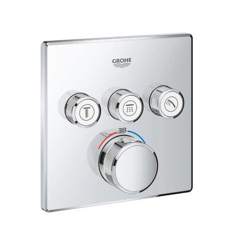 Grohe - GROHE Grohtherm SmartControl Ankastre Termostatik Duş Bataryası Kare