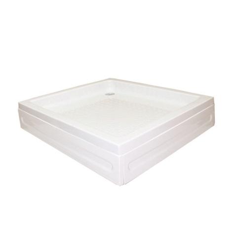 Kabinet - Kabinet 90x90 cm Kare Duş Teknesi Beyaz