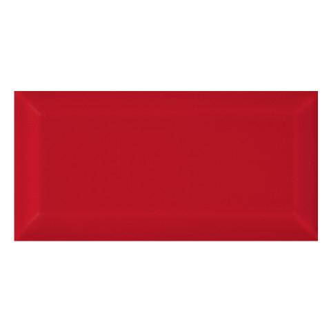 KARO Metro Seramik 10x20 cm Parlak Red Bevelled Duvar Karosu