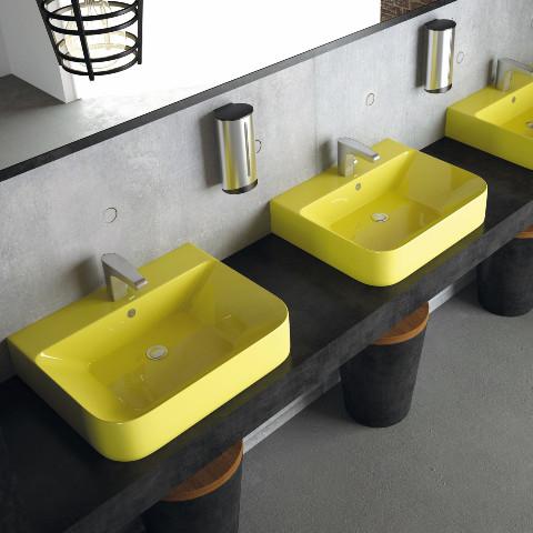 Lucco - Lucco Allecra Tezgah Üstü Lavabo 55 cm Sarı
