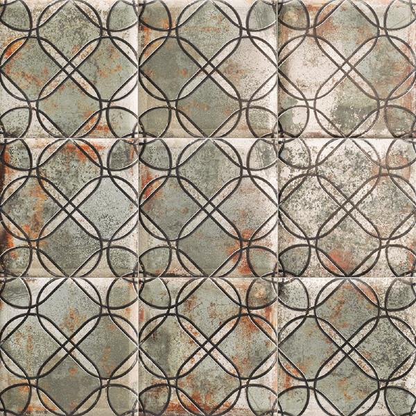 Mainzu 20x20 cm Tin Tile Sheet Dekor Duvar Karosu