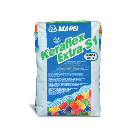 Mapei - MAPEI Keraflex Extra S1 Çimento Esaslı Seramik Yapıştırıcısı Beyaz