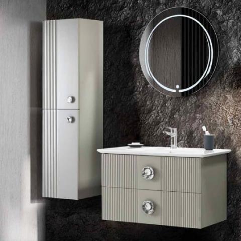 Martat - Martat Banyo Vanity 90 cm Banyo Mobilyası Takımı
