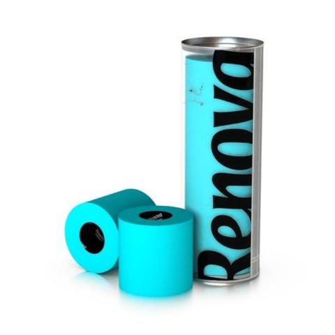Renova - Renova Renkli Tuvalet Kağıdı Mavi