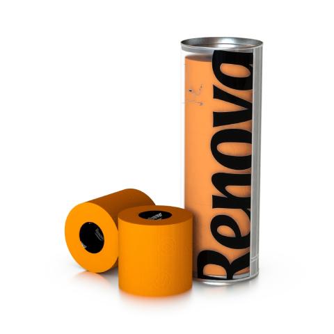 Renova - Renova Renkli Tuvalet Kağıdı Turuncu