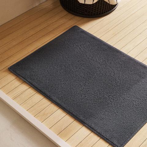 ZARA HOME Dokulu Banyo Paspası Antrasit 50x70 cm